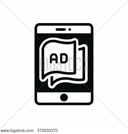 Black Solid Icon For Tablet-ad Tablet Ad Technology Advertisement Device Blurb Reclame Electronic Ma