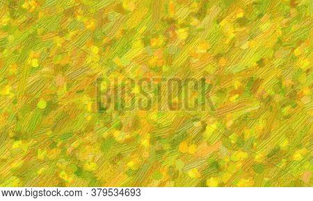 Lemon Green Bristle Brush Oil Paint Background, Digitally Created.