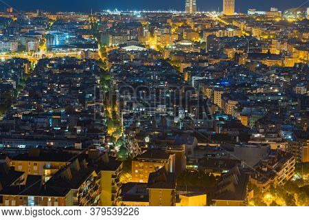 July 29 2020, Barcelona, Spain: View Of Barcelona City And Costline In Spring From The Bunkers In Ca