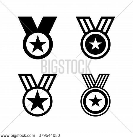 Set Of Award Vector. Award Icon Isolated On White Background. Award Medal Icon. Award Medal Vector D
