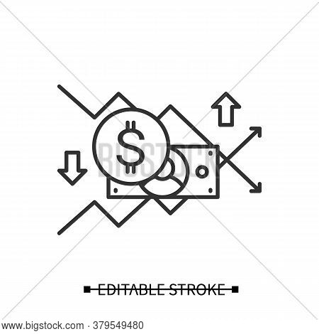 Return Of Investment Icon. Financial Plan And Stock Market Trends Pictogram. Roi, Personal And Corpo