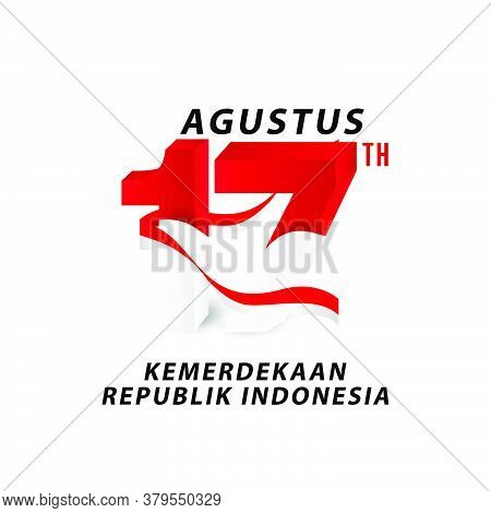 17th August Text For Indonesia Independence Day Banner Design