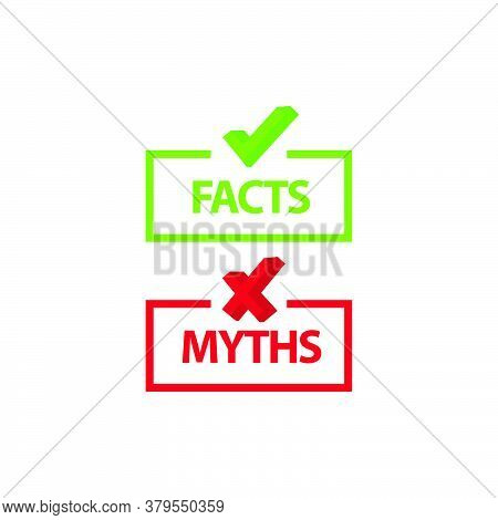 Myths And Facts Icon Symbol Design Template For Element Design