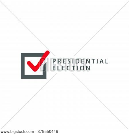 Presidential Election Logo Design Template Isolated On White Background