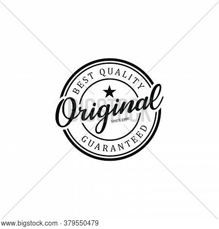 Original Stamp Logo Design Badge Template For Business Element