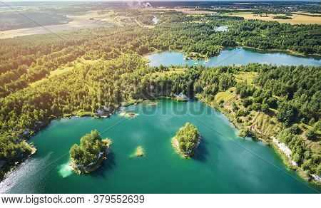 Clean Green Water In Lake