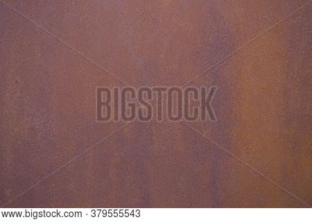 Rusty Iron Sheet Texture. The Background. Place For Text. Panoramic Grunge Rusted Metal Texture, Rus