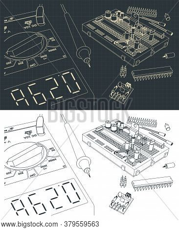 Electronics Components Kit Drawings