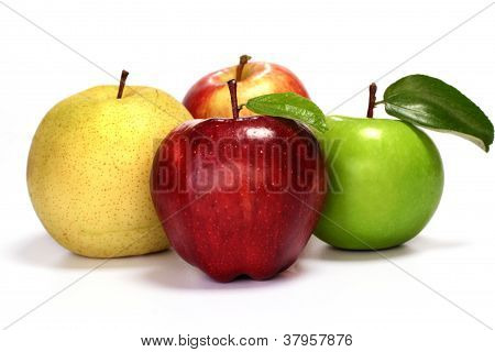 Green, Red And Yellow Apple's