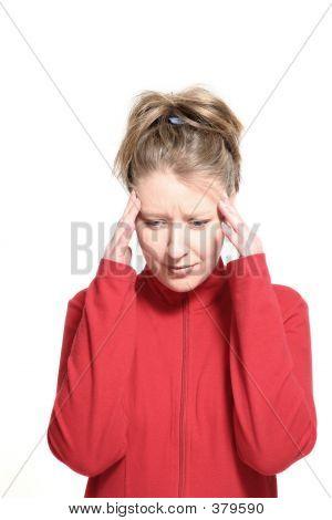 Woman Having Migraine