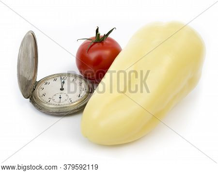 Time Of Consumption, Old Watch, Tomato, Pepper, Solving Famine Problems, Food Sharing