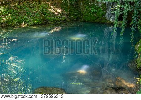 Krupajsko Vrelo (the Krupaj Springs) In Serbia, Beautiful Water Spring With Waterfals And Caves. Hea