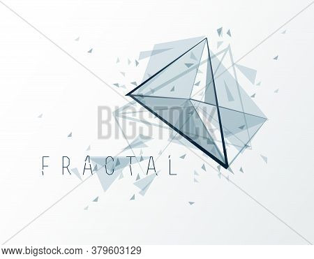 Polygonal Elements Vector Abstract Background, Low Poly 3d Object, Connected Lines In Perspective Fr