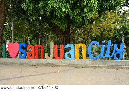 San Juan, Ph - Nov 17 - I Love San Juan City Colorful Big Letters On November 17, 2018 In San Juan,
