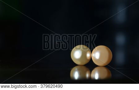 An Expensive And Rare Pearl That Is Placed On The Table.