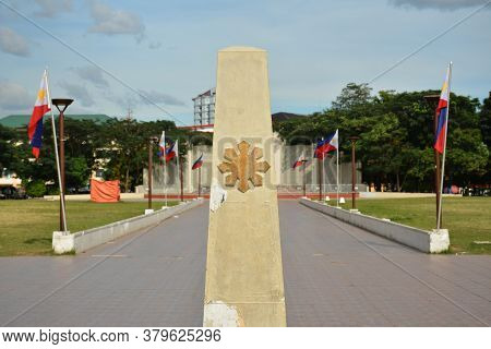 San Juan, Ph - Nov 17 - Pinaglabanan Shrine Stone Marker On November 17, 2018 In San Juan, Philippin