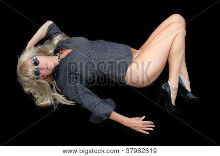 blond in heels