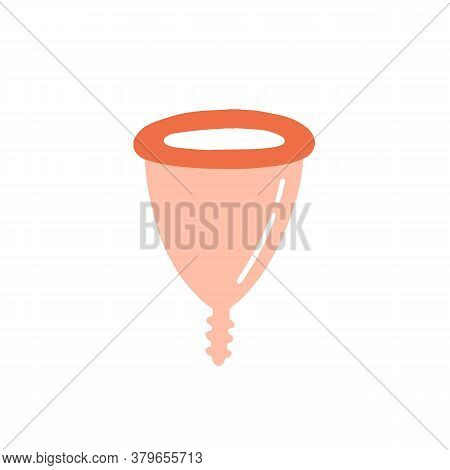 Colorful Menstrual Cup For Female Intimate Hygiene Vector Flat Illustration. Medical Equipment For B