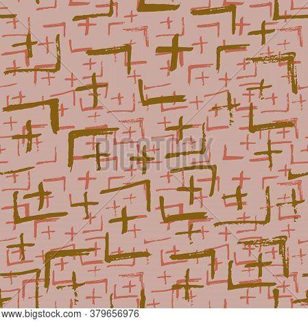 Tie Dye Japanese Geometric Modern Seamless Pattern. Geo Wabi Sabi Minimalist Kimono Print. Boho Tie