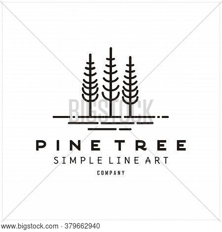 Silhouette Rustic Retro Vintage Hipster Pine, Evergreen, Fir, Hemlock, Spruce, Conifer, Cedar, Conif