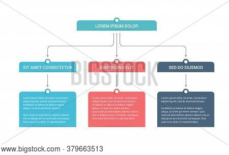 Flowchart With 3 Levels, Infographic Template With 3 Steps Or Options, Vector Eps10 Illustration