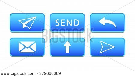 Icons To The Send A Message. Send Icons. Mail Icons. Vector Illustration.