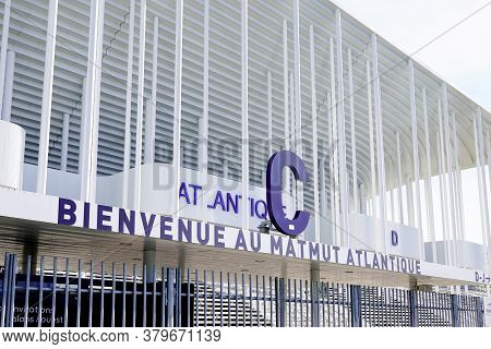 Bordeaux , Aquitaine / France - 10 25 2019 : Stade Matmut Atlantique Bordeaux City Stadium Football