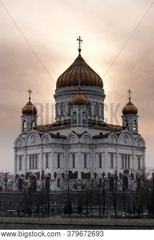 Russia, Moscow 29,03,2009 The Cathedral Of Christ The Savior