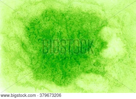 Abstract Watercolor Background With Copy Space. Watercolor Wet Texture. Fresh Green Romantic Illustr
