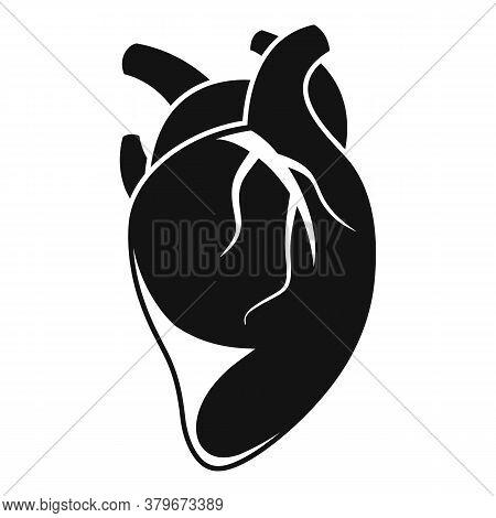 Anatomy Human Heart Icon. Simple Illustration Of Anatomy Human Heart Vector Icon For Web Design Isol