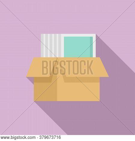 Windows Installation Box Icon. Flat Illustration Of Windows Installation Box Vector Icon For Web Des