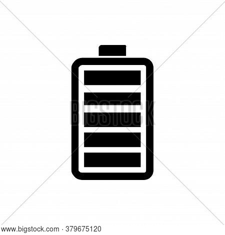 Battery Icon Vector. Battery Icon Isolated On Whaite Background.  Battery Icon In Trendy Design Styl