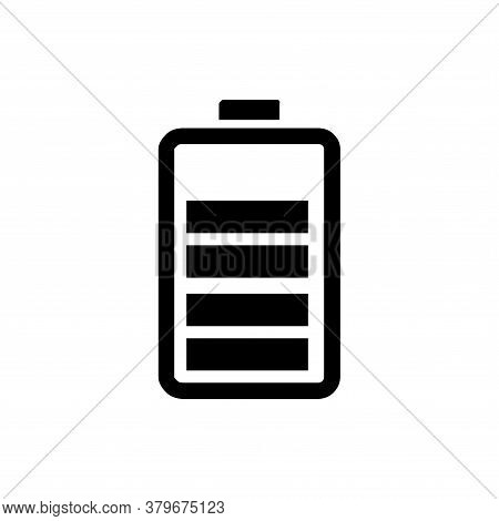 Battery Icon Vector. Battery Icon Isolated On White Background. Battery Icon In Trendy Design Style.