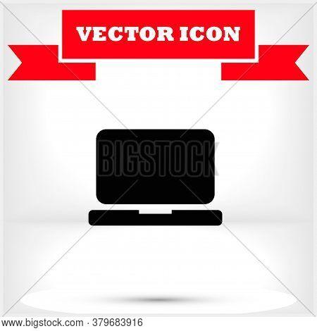 Laptop Vector Icon , Lorem Ipsum Flat Design