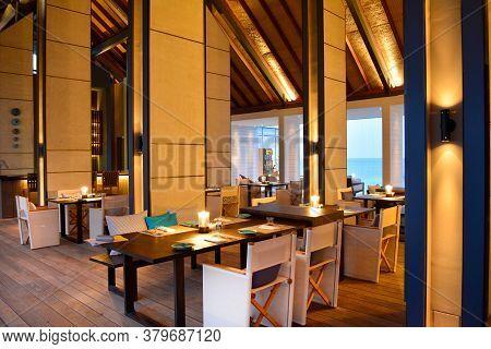 Randheli Island / Maldives - Jan,11 2014: Inside