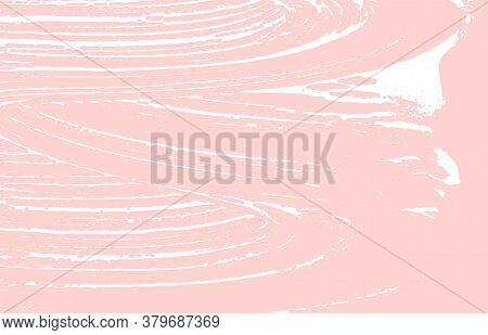 Grunge Texture. Distress Pink Rough Trace. Fresh Background. Noise Dirty Grunge Texture. Tempting Ar