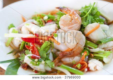 Seafood Thai Style salad