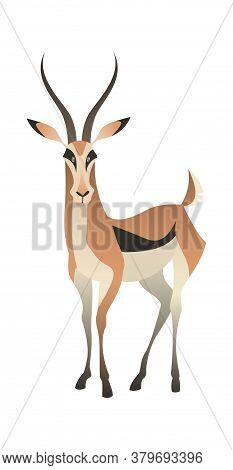 Jungle Wild Antelope. Gazelle Savannah Brown Animal, Wildlife Trendy Exotic Childish Print, African