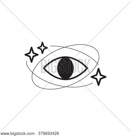 Quantum Healing Vector Illustration Graphic Symbol. Meditation, Alternative Medicine Or Astral, Univ