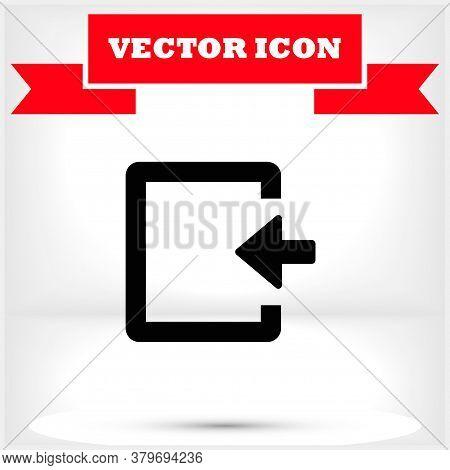 Entrance Vector Icon , Lorem Ipsum Flat Design