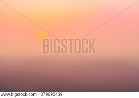 Blurred Pastel Color Evening Sky And Amazing Clouds.