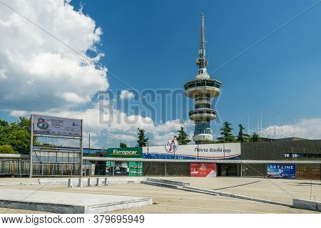Thessaloniki, Greece - August 02 2020: Entrance To Tif 85th International Fair. 85th Thessaloniki In