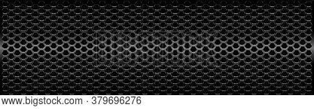 Black Perforated Iron With White Reflections - Vector
