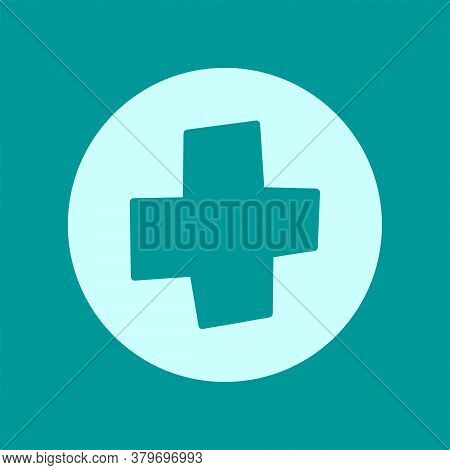 Vector Medical Icon. Healthcare Design. Symbol Of Medicine, First Aid. Doodle Add Plus Illustration.