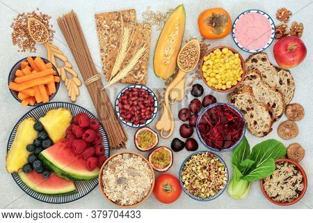 High fibre health food for vegans with fruit, vegetables, cereals, grains, nuts & seeds. High in antioxidants, omega 3, & protein with low g levels for diabetics. Lowers blood pressure & cholesterol.
