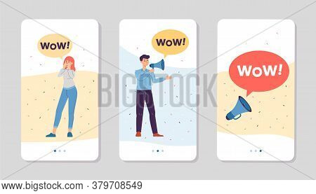 Final Sale And Store Promotion Interfaces For Phones Flat Vector Illustration.