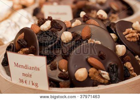 Mendiants cookies