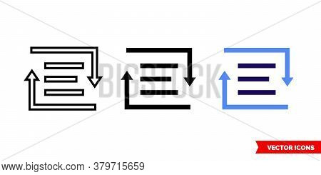 Rich Text Converter Icon Of 3 Types. Isolated Vector Sign Symbol.
