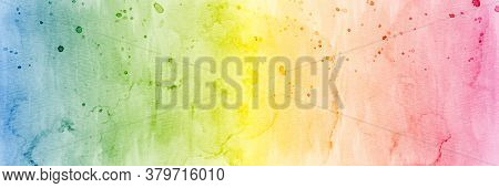 Abstract Colorful Rainbow Stain Watercolor For Textures Background. Stain Artistic Vector Used As Be