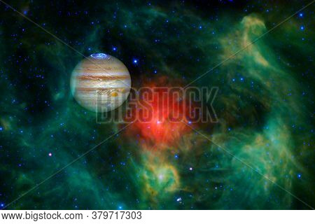 Jupiter. Solar System. Cosmos Art. Elements Of This Image Furnished By Nasa